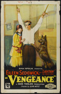 "Movie Posters:Adventure, Vengeance (Sun Pictures, 1925). One Sheet (27"" X 41"").Adventure...."