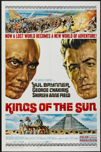 "Kings of the Sun (United Artists, 1963). One Sheet (27"" X 41"") Style B. Adventure"