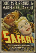 "Movie Posters:Adventure, Safari (Paramount, 1940). One Sheet (27"" X 41""). Adventure...."