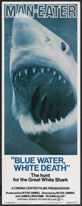"Movie Posters:Documentary, Blue Water, White Death (National General, 1971). Insert (14"" X 36""). Documentary...."