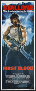 """Movie Posters:Action, First Blood (Orion, 1982). Insert (14"""" X 36""""). Action...."""