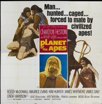 "Planet of the Apes (20th Century Fox, 1968). Six Sheet (81"" X 81""). Science Fiction"