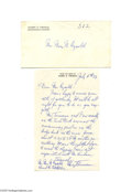 Autographs:U.S. Presidents, Harry Truman on the S. S. Constitution Signed Letter...