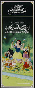 "Movie Posters:Animated, Snow White and the Seven Dwarfs (Buena Vista, R-1982). Insert (14""X 36""). Animated...."