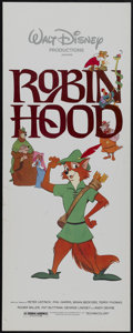"Movie Posters:Animated, Robin Hood (Buena Vista, R-1982). Insert (14"" X 36""). Animated...."