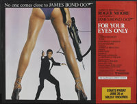 """For Your Eyes Only (United Artists, 1981). Subway (45"""" X 59""""). James Bond"""