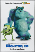"Movie Posters:Animated, Monsters, Inc. (Buena Vista, 2001). One Sheet (27"" X 40"") DS Advance. Animated...."