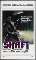 "Movie Posters:Blaxploitation, Shaft (MGM, 1971). New York One Sheet (27"" X 45"").Blaxploitation...."