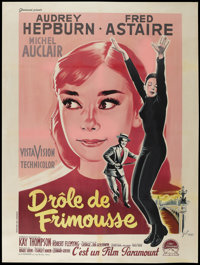 "Funny Face (Paramount, 1957). French Grande (47"" X 63""). Romance"
