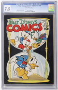 Golden Age (1938-1955):Cartoon Character, Walt Disney's Comics and Stories #40 (Dell, 1944) CGC VF- 7.5 Creamto off-white pages....