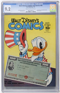 Walt Disney's Comics and Stories #46 (Dell, 1944) CGC NM- 9.2 Cream to off-white pages