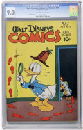 Golden Age (1938-1955):Cartoon Character, Walt Disney's Comics and Stories #56 (Dell, 1945) CGC VF/NM 9.0Cream to off-white pages....