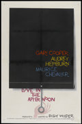 """Movie Posters:Romance, Love In The Afternoon (Allied Artists, 1957). One Sheet (27"""" X 41""""). Romance...."""