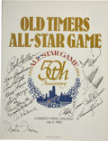 Autographs:Letters, 1983 Old Timers All-Star Game Autographed Program . The 50thanniversary of the All-Star game featured an Old-Timers game w...