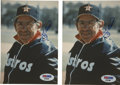 Autographs:Photos, Yogi Berra Signed Photographs Lot of 2. The ever popular formercatcher for the New York Yankees has autographed these two ...