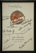 Autographs:Letters, Baltimore Orioles Multi-Signed Anniversary Program. Celebratingthirty years as an organization, the Orioles produced this ...