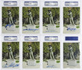 "Autographs:Post Cards, Hall of Fame Signed ""Sand Lot Kid"" Postcards PSA Authentic Lot of 15. Fifteen members of the Baseball Hall of Fame have sig..."
