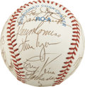 Autographs:Baseballs, 1991 Boston Red Sox Team Signed Baseball. Joe Morgan enjoyed hisonly stint as a big league skipper with four seasons with ...