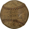 Autographs:Baseballs, 1931 Washington Senators Team Signed Baseball. The 1931 WashingtonSenators were managed by the legendary Walter Johnson an...