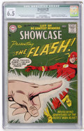 Silver Age (1956-1969):Superhero, Showcase #8 The Flash (DC, 1957) CGC Qualified FN+ 6.5 Off-white to white pages....