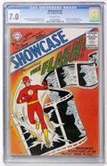 Silver Age (1956-1969):Superhero, Showcase #4 The Flash (DC, 1956) CGC FN/VF 7.0 Off-white pages....