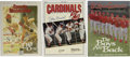 Autographs:Others, St. Louis Cardinals Signed Publications Lot of 3. Great collectionof three signed periodicals comes to us via former stars...