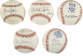 Autographs:Baseballs, St. Louis Cardinals Legends Single Signed Baseballs Lot of 5. Fansof the Redbirds will clamor at the chance to own this co...