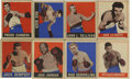 Boxing Cards:General, 1948 Leaf Boxing Collection of 47. Presented is a 1948 Leaf Boxingcollection of 47 different cards in overall middle grade....