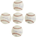 Autographs:Baseballs, Brooks Robinson Single Signed Baseballs Lot of 5. Brooks Robinsonspent his entire major league career with the Baltimore O...
