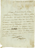 Autographs:Non-American, King Joseph I of Naples Manuscript Letter Signed... (Total: 2Items)