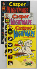 Bronze Age (1970-1979):Cartoon Character, Casper and Nightmare File Copies Group (Harvey, 1965-70) Condition:Average VF+.... (Total: 8 Comic Books)
