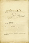 Autographs:Non-American, Cipriano Castro, President of Venezuela, Document Signed,...