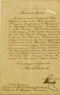 Autographs:Non-American, King Christian IX of Denmark Document Signed,...