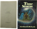 Books:First Editions, Gordon R. Dickson. Time Storm and Time Storm AdvanceProof. New York: St. Martin's Press, 1977.. ... (Total: 2 Items)