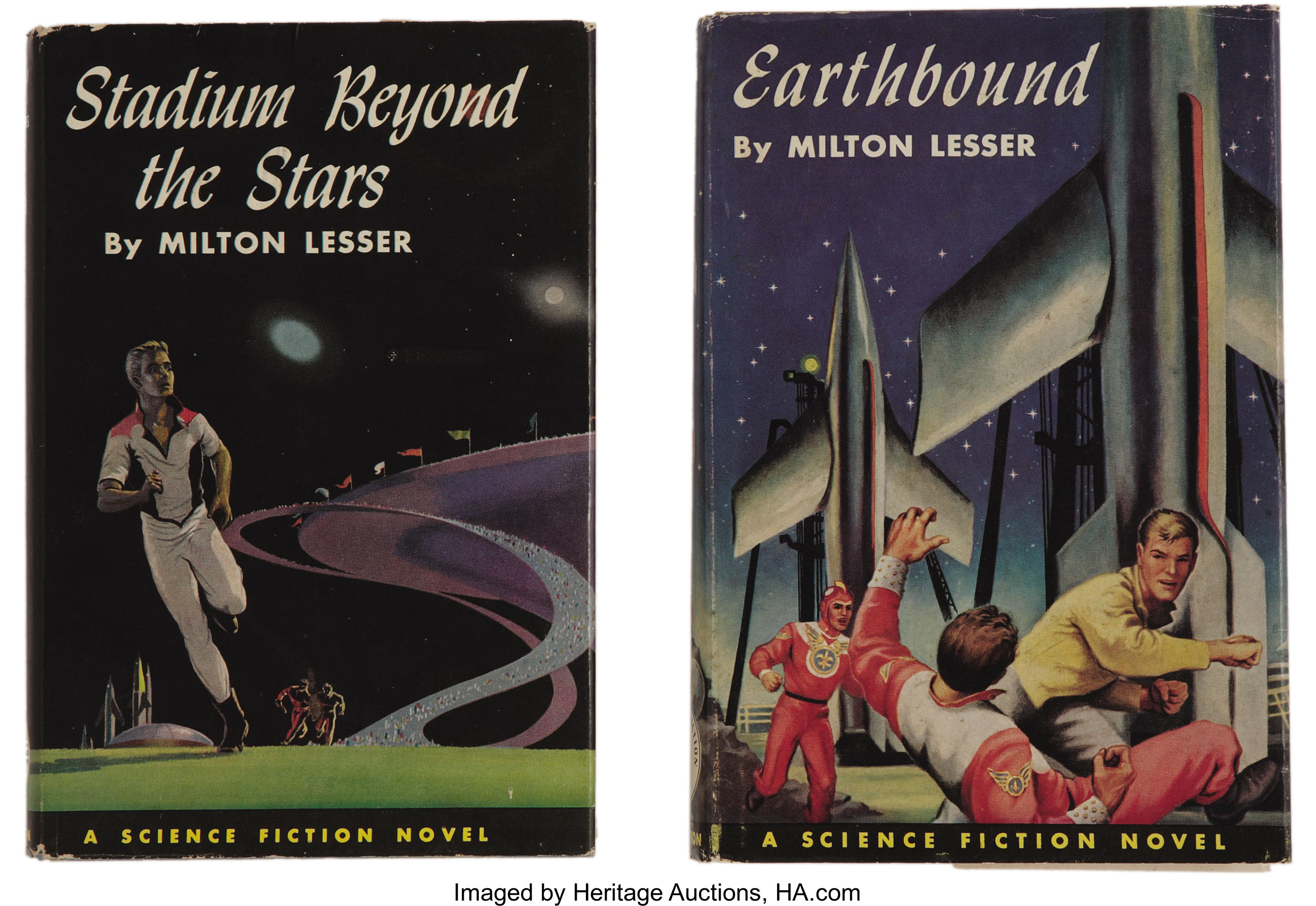 Milton Lesser  Two First Editions, including: Earthbound