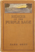 Books:First Editions, Zane Grey. Riders of the Purple Sage. New York: Harper &Brothers, 1912....