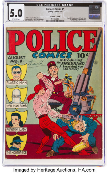 Golden Age (1938-1955):Superhero, Police Comics #1 Harold Curtis Pedigree (Quality, 1941) CGC VG/FN 5.0 Off-white pages....