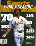 "Autographs:Others, Mark McGwire Signed ""Sports Illustrated"" Magazine. The SportsIllustrated issue that we present here hearkens back to B..."