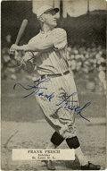 "Autographs:Post Cards, Frank Frisch Signed Postcard. The Fordham Flash has deposited anelegant exemplar of his Hall of Fame signature to the 3x5""..."