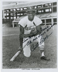 "Autographs:Photos, Curt Flood Signed Photograph. Impressive photograph from thereserve clause hero has been signed to read ""Sincerely: to Fra..."