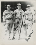 Autographs:Photos, Enos Slaughter, Terry Moore, and Joe Medwick Multi-SignedPhotograph. The trio shown here were St. Louis teammates in the1...