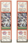 Baseball Collectibles:Tickets, 1993 Farewell to Nolan Ryan Group Lot. A pair of tickets from a1993 event that celebrated the close of the Hall of Fame pit...