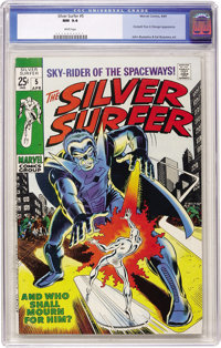 The Silver Surfer #5 (Marvel, 1969) CGC NM 9.4 White pages