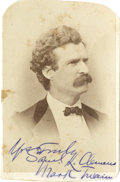 Autographs:Authors, Samuel L. Clemens [Mark Twain] Carte-de-Visite Brady Photograph...