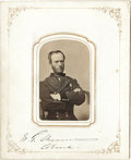 Autographs:Military Figures, Civil War Generals William T. Sherman and Nathaniel P. Banks Carte de Visite Photographs Signed...