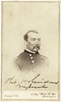 Autographs:Military Figures, Philip H. Sheridan Carte de Visite Brady Photograph Signed...