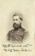 Autographs:Military Figures, Oliver O. Howard Carte-de-Visite Photograph Signed...