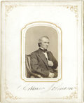 Autographs:U.S. Presidents, Presidents Andrew Johnson and Ulysses S. Grant Cartes deVisite Photographs Signed...