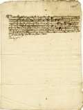 Autographs:Non-American, Pope Paul V Letter Signed as Pope....