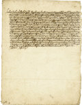 Autographs:Non-American, Pope Clement VIII Letter Signed as Pope....